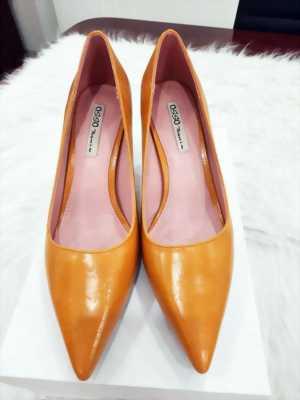 Giày cao gót 5P OSSO mũi nhọn da vân trơn bóng Mã 650-08