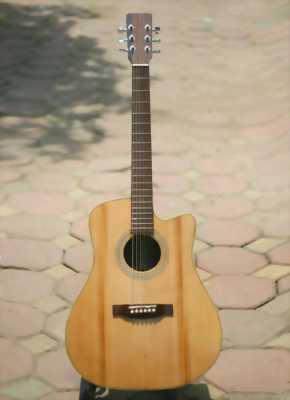 Guitar Acoustic gỗ điệp dáng O.full phụ kiện