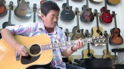 Đàn guitar morris w40