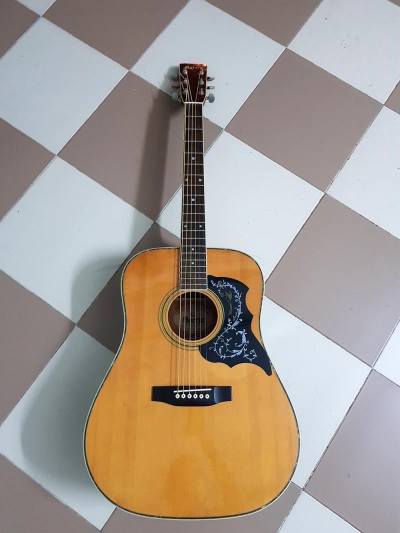 Bán đàn guitar (ghita) có eq và bao da 10 lớp