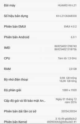 Điện thoại huawei GR5 Gold
