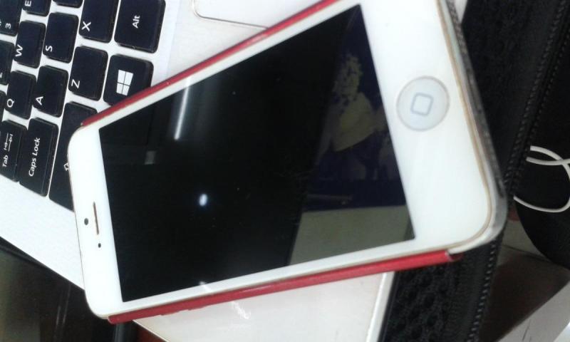 Apple Iphone 5S bạc giao luu dt man hinh lon