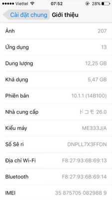 Cần bán em ip5s lock trắng bản 16Gb