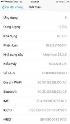 Cần bán iphone 6 plus lock 16Gb