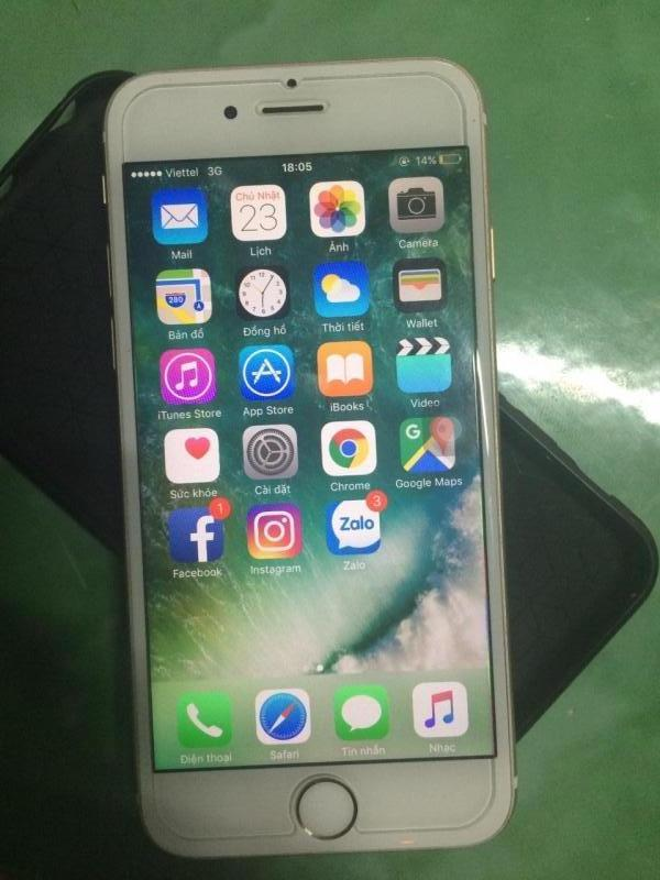 Iphone 6 lock nhật 16gb gold zin 100%