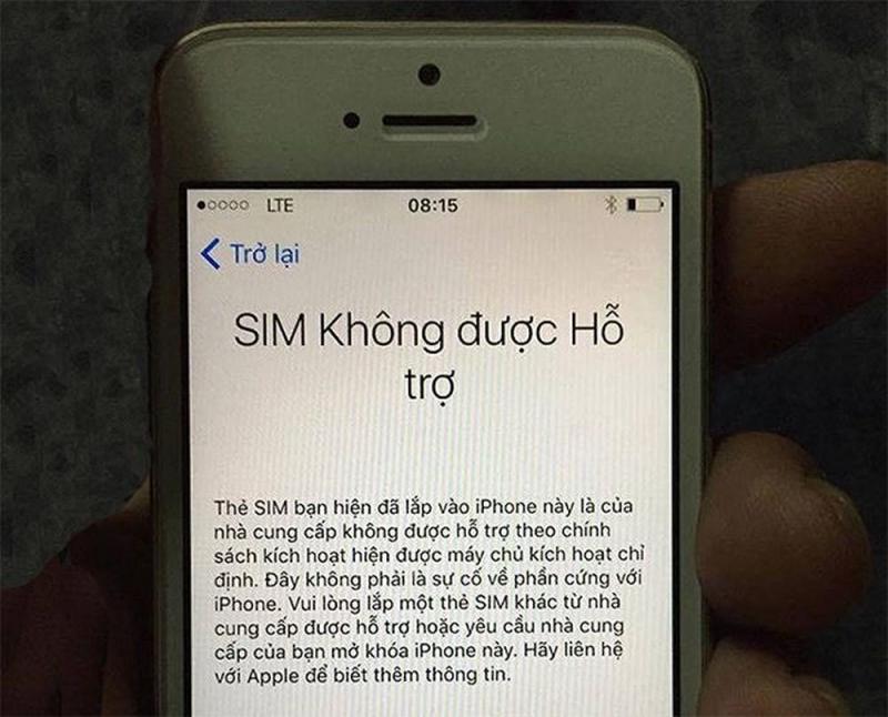 Iphone 5s lock viettel gắn viettel xài bình thường
