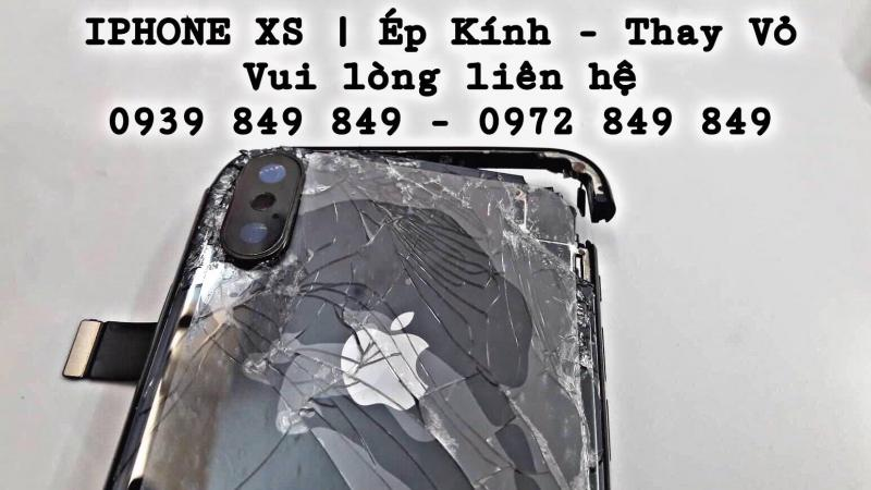 ÉP KÍNH THAY VỎ IPHONE XS UY TÍN CHẤT LƯỢNG SỐ 1 VŨNG TÀU