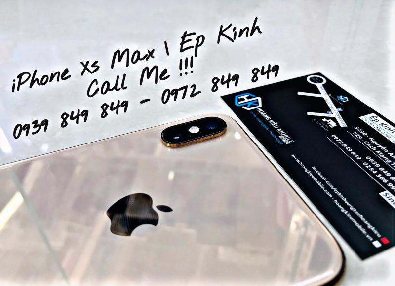 ÉP KÍNH IPHONE XS MAX UY TÍN CHẤT LƯỢNG SỐ 1 VŨNG TÀU