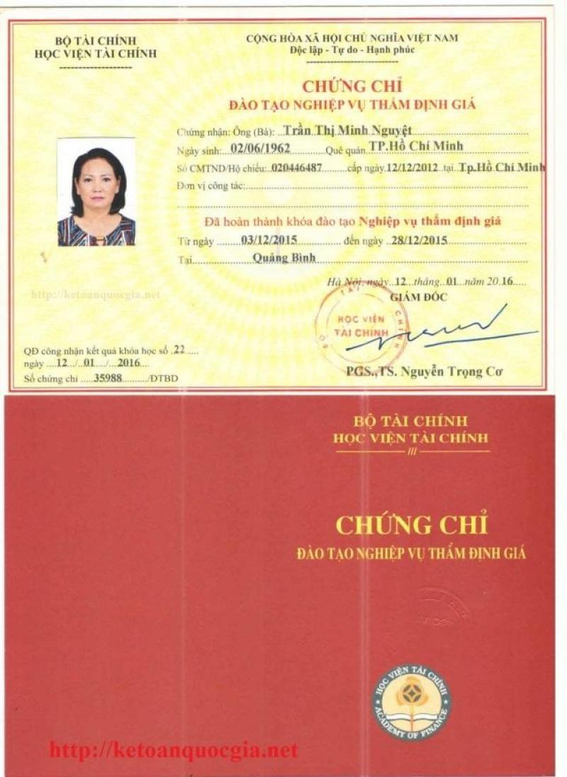 Khóa học thẩm định giá tại Hà Nội