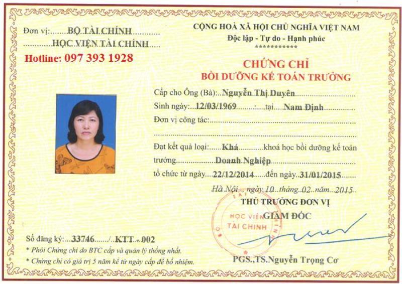 Học chứng chỉ kế toán trưởng tại Hà Nội