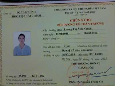 Mở lớp kế toán trưởng tại Thái Nguyên