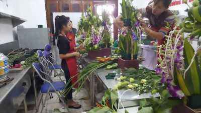 Khóa dạy cắm hoa nghệ thuật tại Hà Nội, Đà Nẵng và TP.HCM