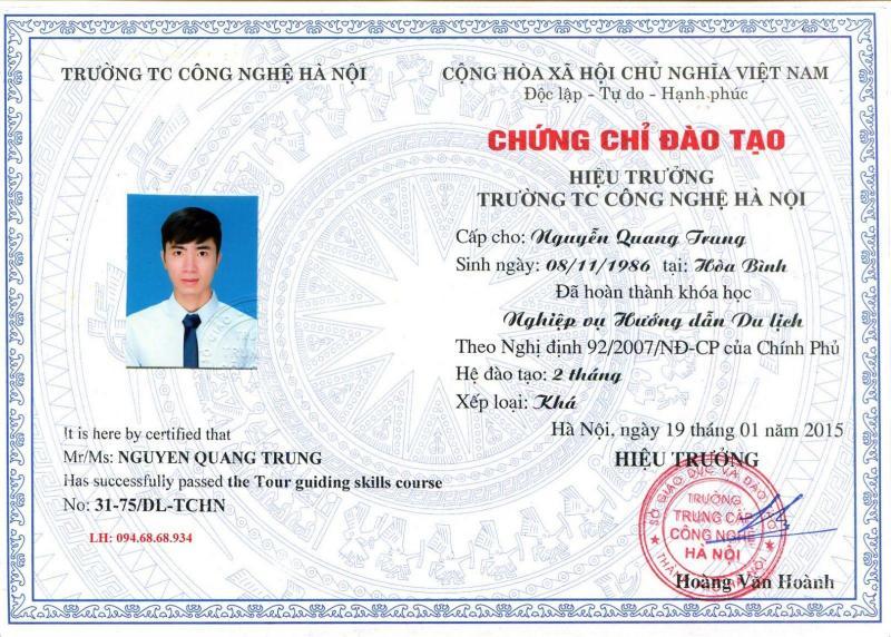 Đào tạo chứng chỉ nghiệp vụ hướng dẫn viên du lịch-TCCN Hà Nội