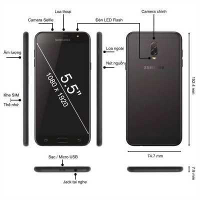 Samsung Galaxy J7+ Đen 32 GB con bh hãng 12/2018
