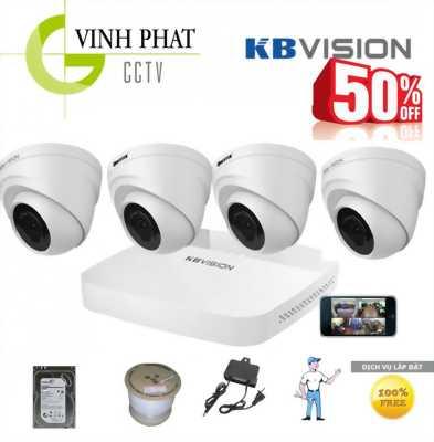 Trọn bộ 4 camera HD KbVision USA chính hãng