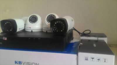 Lắp Đặt Trọn Bộ 04 Camera KBVISION KX-1003C4