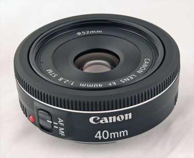 Bán lens cannon 40 f2.8 chuyên chụp xoá phông