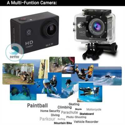 Camera hành động chống nước FullHD 1080P (Đen)