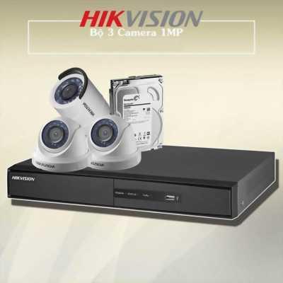 Trọn Bộ 3 Camera Hikvision + 1 Đầu Ghi Chất Lượng
