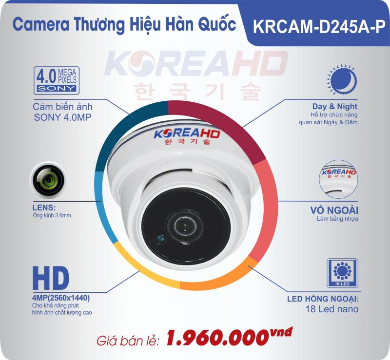 Camera Korea HD KRCAM-D245A-P – 1,960,000 VND