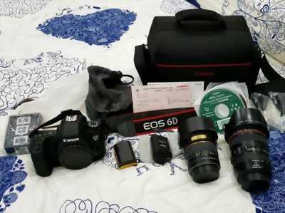 Canon 6d + 2 lens + full phụ kiện zin