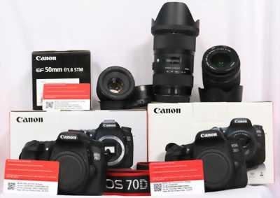 Canon 70d + lens 50mm f1.8 stm như mới