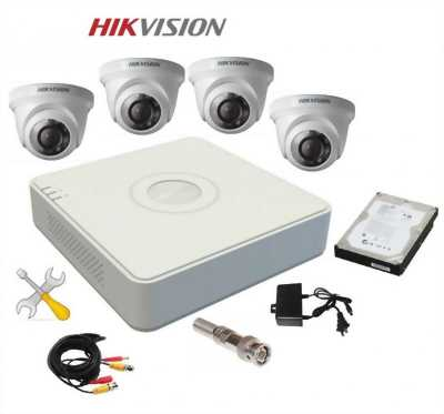 Trọn bộ 4 camera quan sát hikvision 3.0mp giá nét