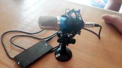 Bộ combo Mic thu âm ISK AT100 và Sound Card V8