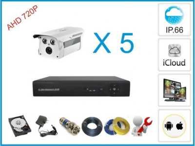 Trọn gói 5 camera an ninh giá rẻ