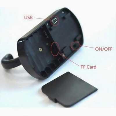 Móc Treo áo Camera IP WIFi Không dây xem từ trên ĐT 2400k