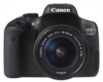 Bán Canon 750D + 17-50 sigma F2.8 bảo hành 8/2019
