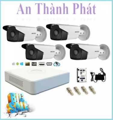 Bộ 4 camera cho nhà xưởng với tiêu chuẩn IP66