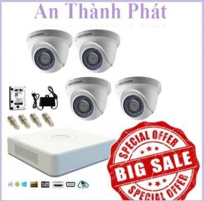 Bộ camera dome DS-2CE56D0T-IRP thiết kế trang nhã