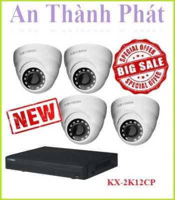 Bộ 4 camera KX-2K12CP cho hình ảnh lên đến 4K