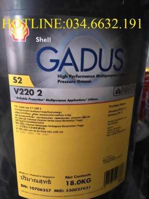 Mỡ bôi trơn SHELL GADUS S2 V220 2 xô 18Kg