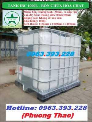 Tank nhựa 1000 lít, Tank nhựa đựng hóa chất cao cấp
