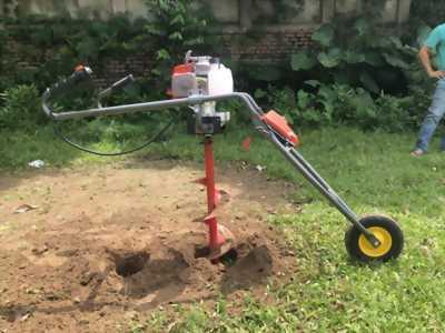 Máy khoan đất có khung giá đỡ, máy khoan đất đẩy tay Savi 261