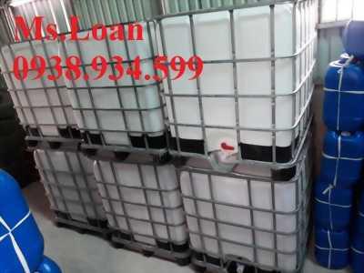 bồn nhựa 1000 lít,tank nhựa ibc 1000 lít