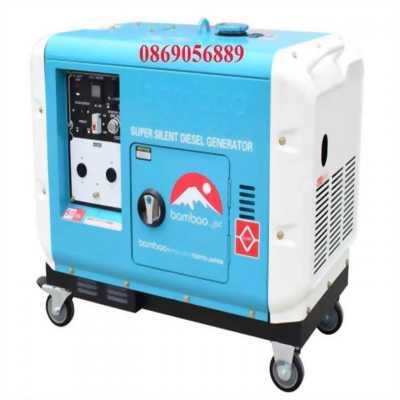 Máy phát điện bamboo chạy dầu 6KW , có tủ ATS BMB 7500EAT