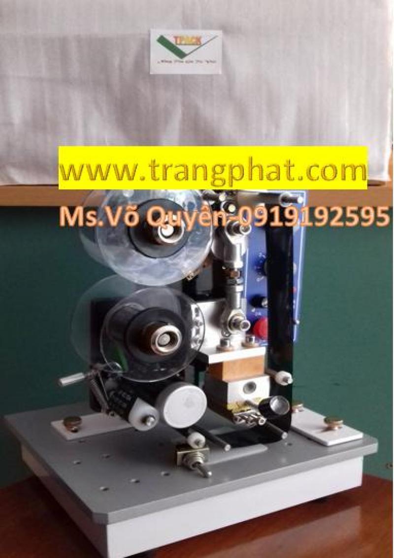 Máy in date bán tự động hp241b, in tem nhãn, bao bì các loại