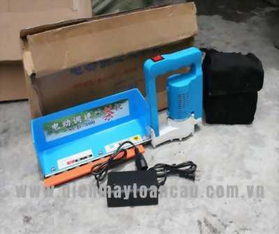 Máy hái chè mini chạy điện acquy