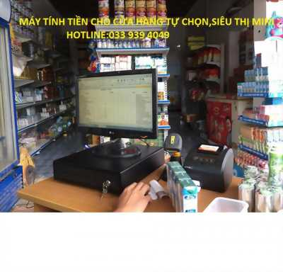 lắp đặt máy tính tiền cho siêu thị mini,cửa hàng tạp hóa tại cà mau