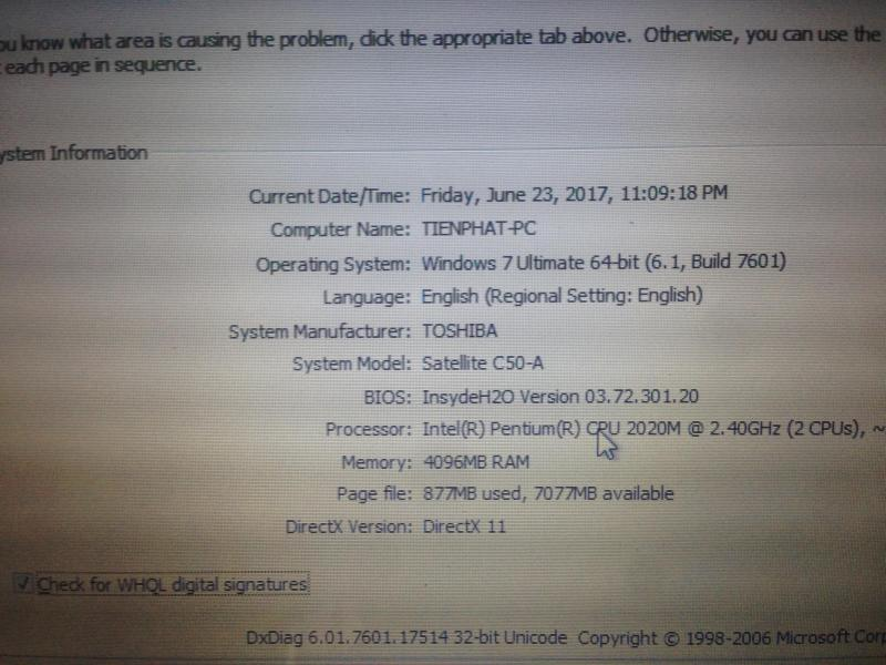 Laptop toshiba C50-A