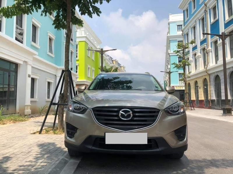 Bán Mazda CX5 số tự động 2017, màu Vàng cát cực đẹp