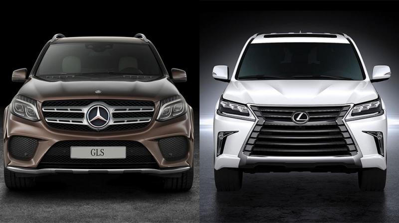 So sánh lexus và mercedes với 2 phiên bản GLS và LX570
