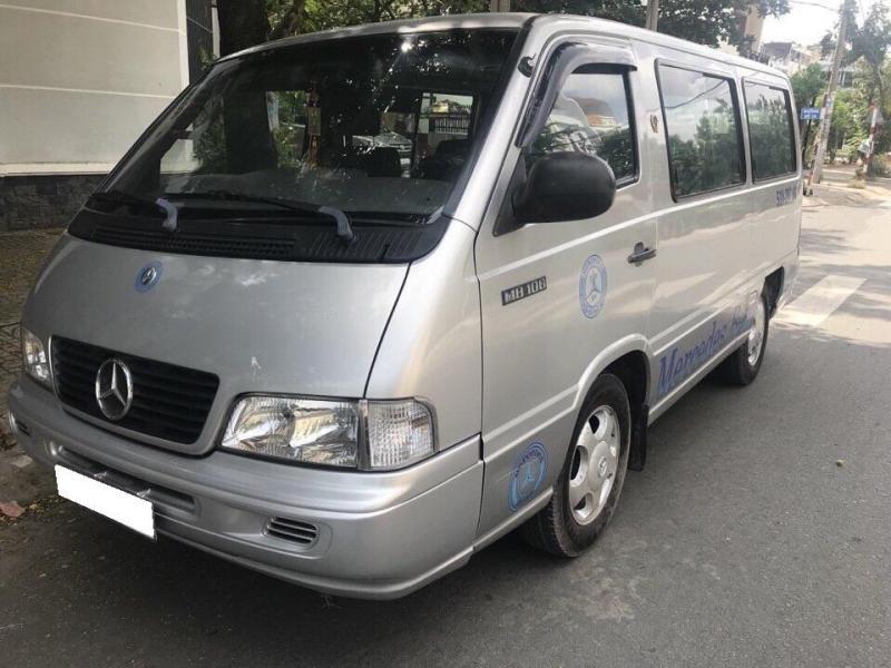 Cần thanh lí chiếc Mercedes MB100 2003 số sàn máy xăng 9 chỗ