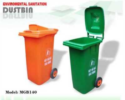 Thùng rác nhựa MGB120L nắp hở - Thùng rác giá rẻ, bền, đẹp