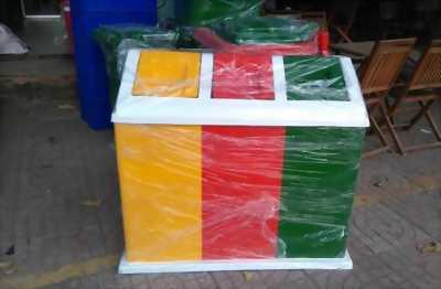 Thùng rác 3 ngăn Composite giá rẻ tại TP. HCM