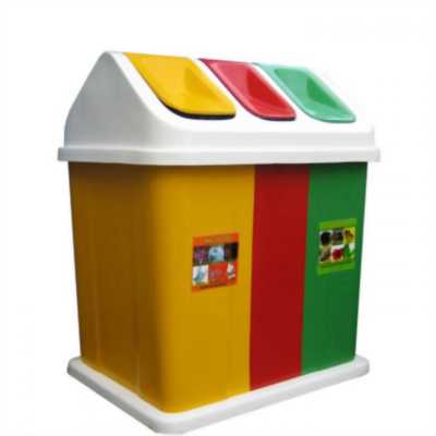 Bán thùng rác 3 ngăn, thùng rác phân loại giá rẻ