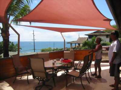Buồm che nắng cho Resort, khách sạn, hồ bơi, cafe sân vườn